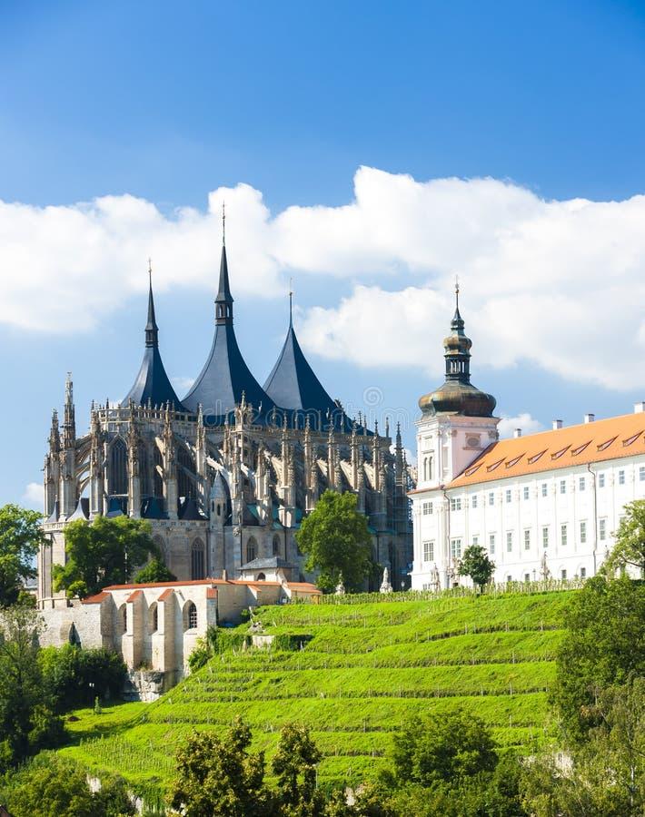 Καθεδρικός ναός του ST Barbara και του κολλεγίου Jesuit, Kutna Hora, τσεχικό Ρ στοκ εικόνες