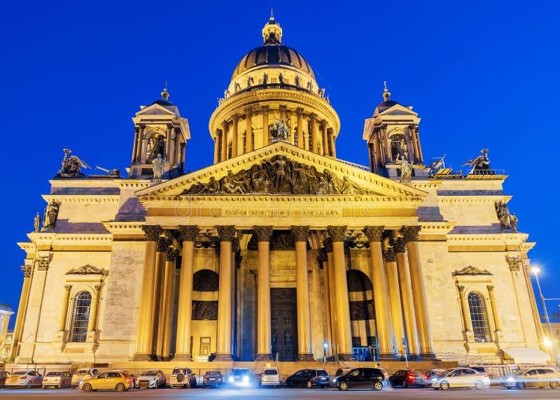 Καθεδρικός ναός του ST Isaac ` s στη Αγία Πετρούπολη, Ρωσία επιγραφή επάνω στοκ φωτογραφία