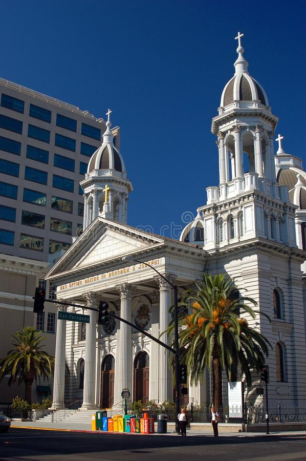 Καθεδρικός ναός του ST Joseph, San Jose Καλιφόρνια στοκ εικόνες