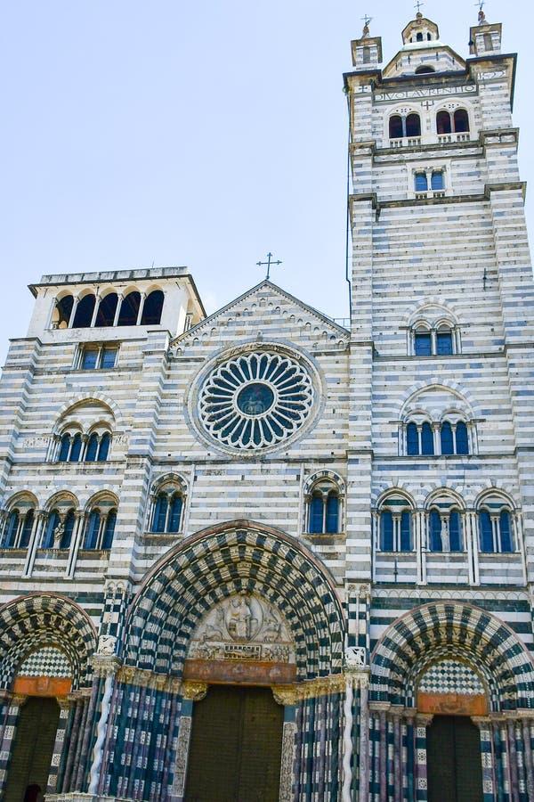 Καθεδρικός ναός του ST Lawrence στη Γένοβα, Ιταλία στοκ εικόνα με δικαίωμα ελεύθερης χρήσης