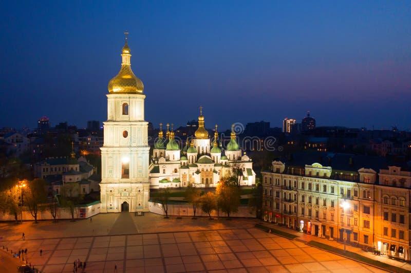 Καθεδρικός ναός του ST Sophia, στην πλατεία της Sophia σε Kyiv, Ουκρανία στοκ εικόνα με δικαίωμα ελεύθερης χρήσης