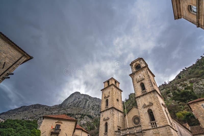 Καθεδρικός ναός του ST Tryphon σε Kotor στοκ φωτογραφία
