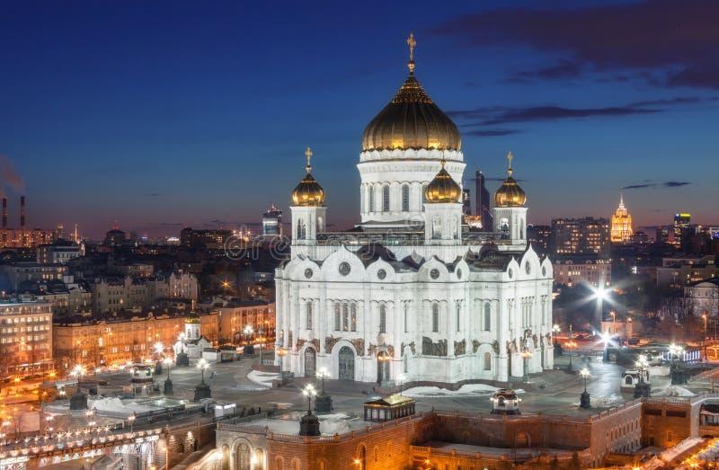 Καθεδρικός ναός Χριστού το Savior στη νύχτα στοκ εικόνα με δικαίωμα ελεύθερης χρήσης