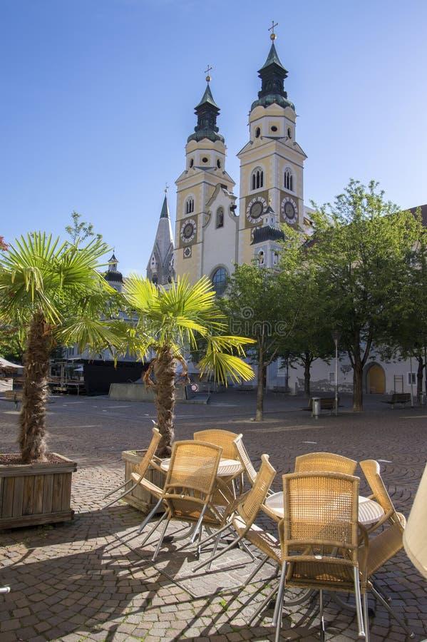 Καθεδρικός ναός Brixen με δύο πύργους, Bozen, Ιταλία, Ευρώπη στοκ εικόνα
