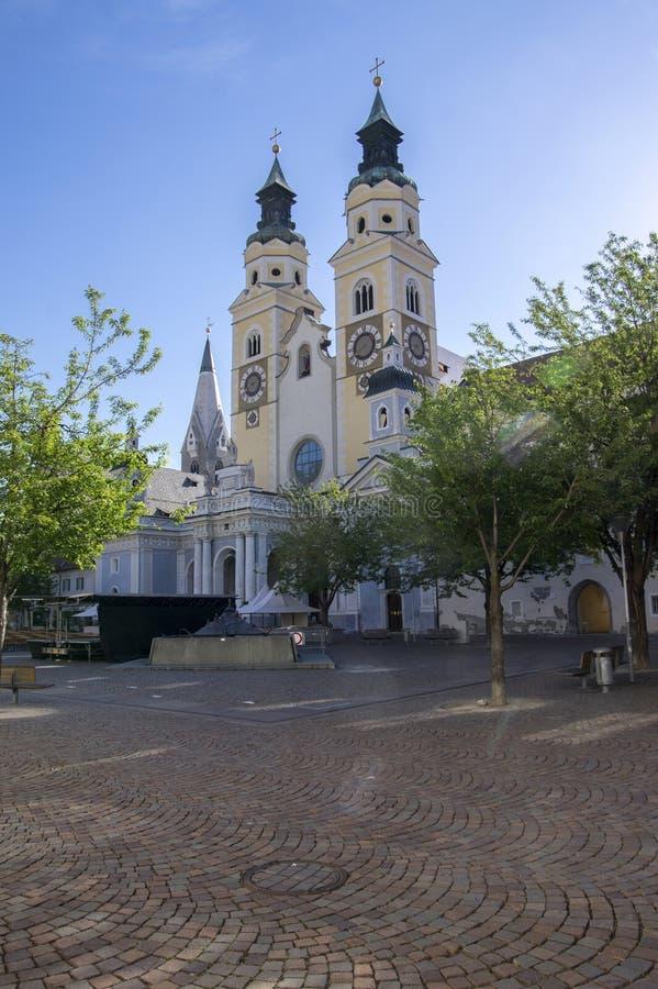 Καθεδρικός ναός Brixen με δύο πύργους, Bozen, Ιταλία, Ευρώπη στοκ φωτογραφία
