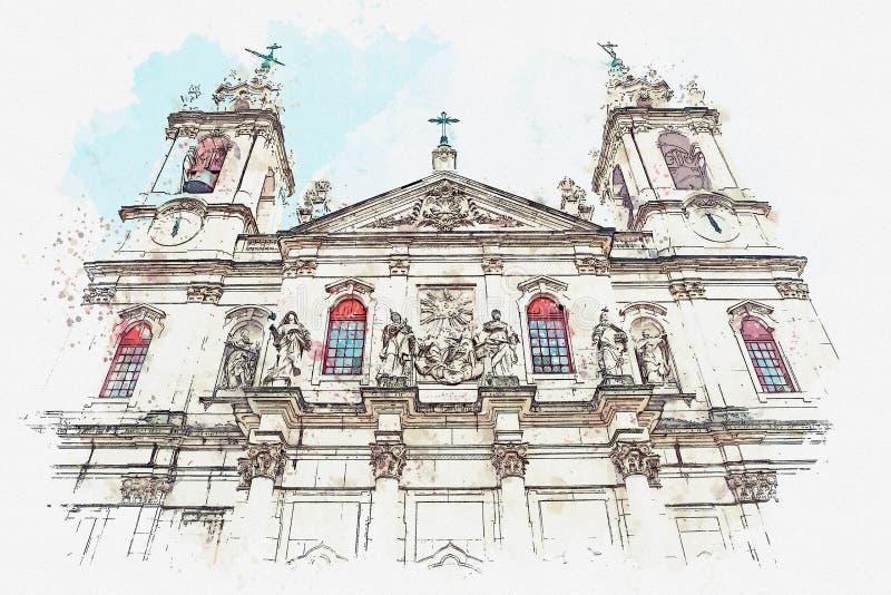 Καθεδρικός ναός DA Estrela βασιλικών απεικόνισης στη Λισσαβώνα, Πορτογαλία ελεύθερη απεικόνιση δικαιώματος