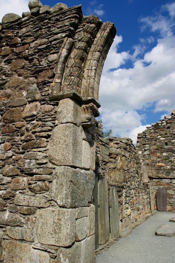 καθεδρικός ναός glendalough s στοκ εικόνες