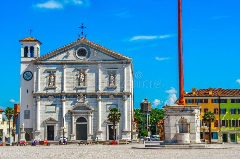 Καθεδρικός ναός Palmanova - Udine επαρχία - περιοχή Friuli Venezia Giulia - Ιταλία στοκ εικόνα με δικαίωμα ελεύθερης χρήσης
