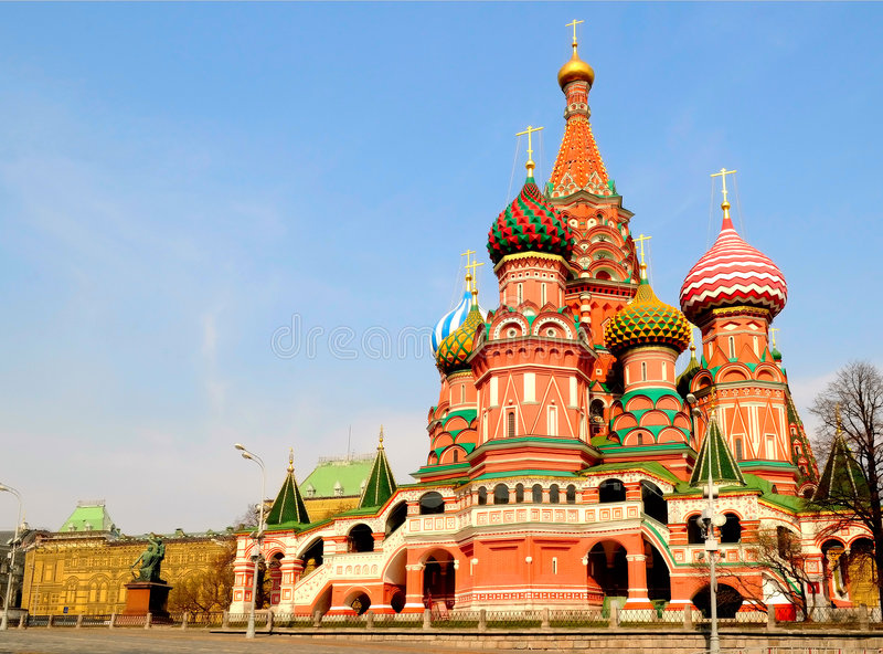 καθεδρικός ναός s Άγιος βασιλικού στοκ εικόνες