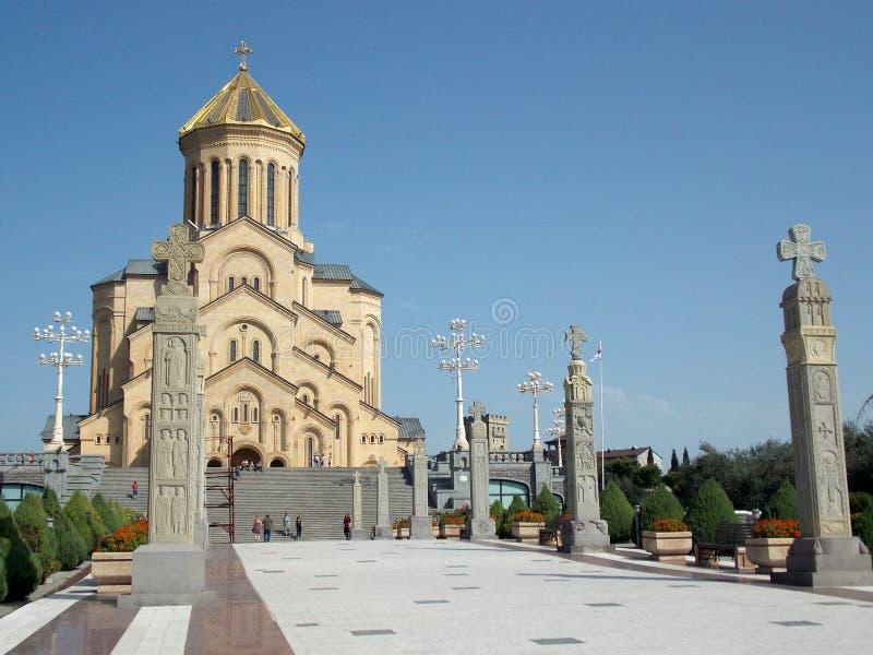 Καθεδρικός ναός Sameba, Tbilisi, Γεωργία στοκ εικόνα