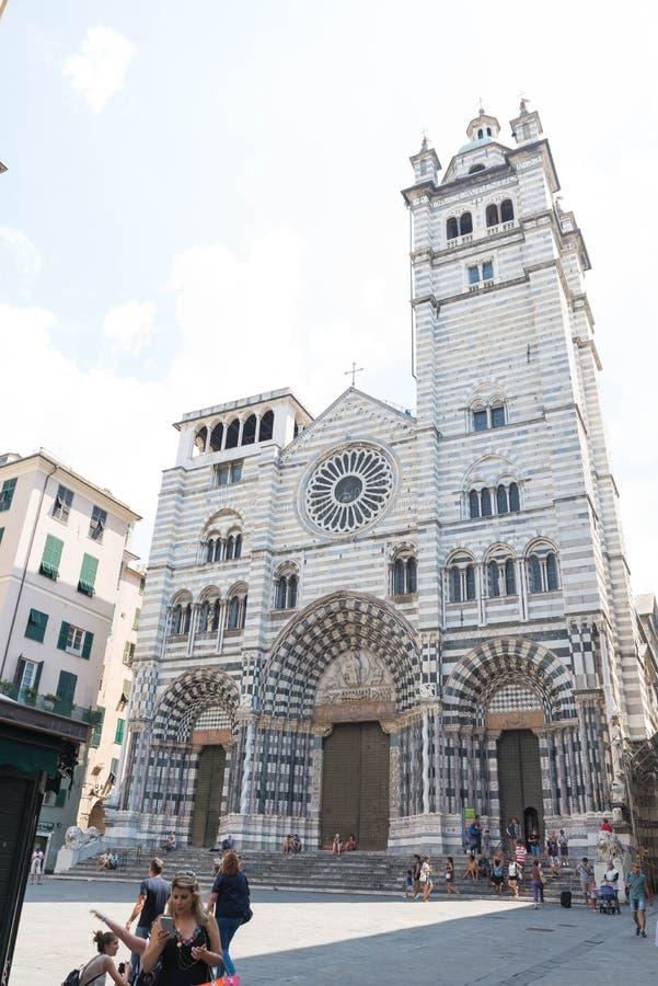 Καθεδρικός ναός SAN Lorenzo, στη Γένοβα στοκ εικόνες
