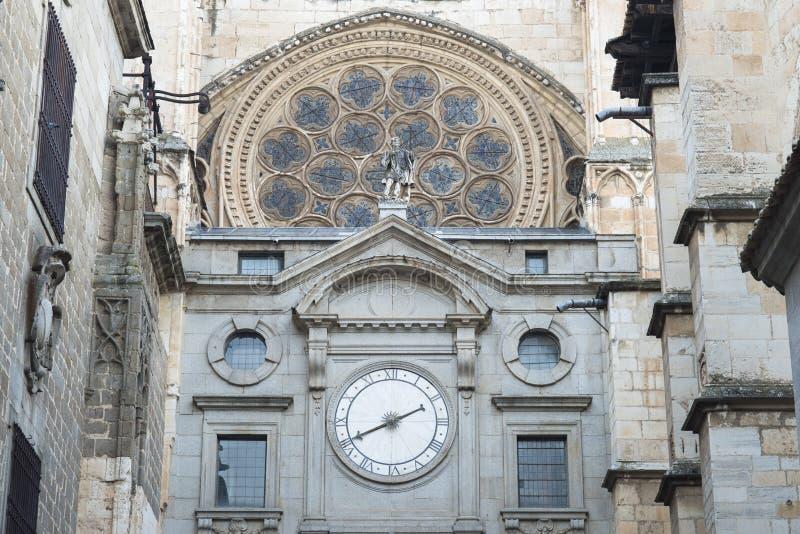 Καθεδρικός ναός Santa María, γοτθική αρχιτεκτονική στο Τολέδο Ισπανία στοκ φωτογραφίες με δικαίωμα ελεύθερης χρήσης