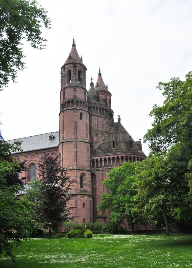Καθεδρικός ναός Άγιος Peter στα σκουλήκια, Γερμανία στοκ εικόνα με δικαίωμα ελεύθερης χρήσης