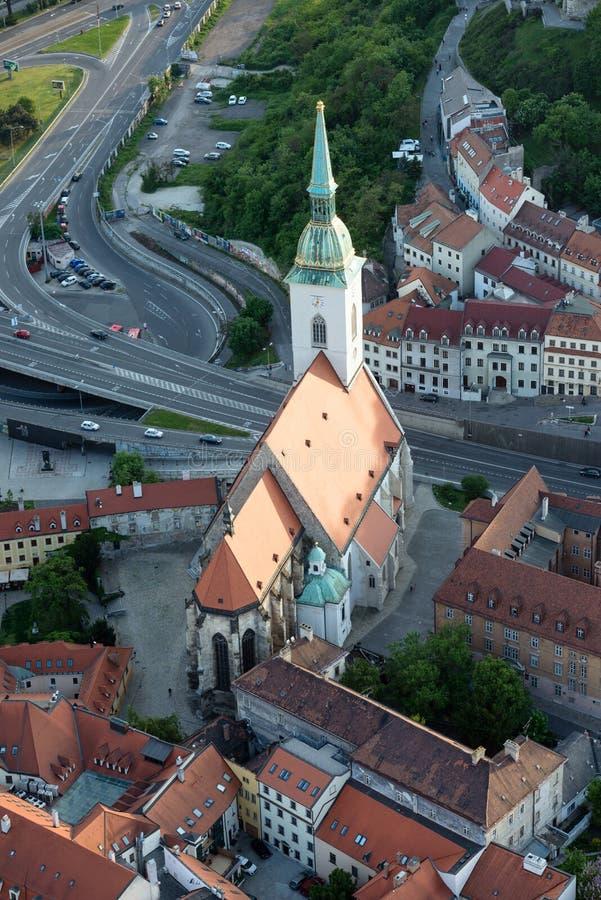 Καθεδρικός ναός Αγίου Martin στη Μπρατισλάβα, Σλοβακία στοκ φωτογραφία με δικαίωμα ελεύθερης χρήσης