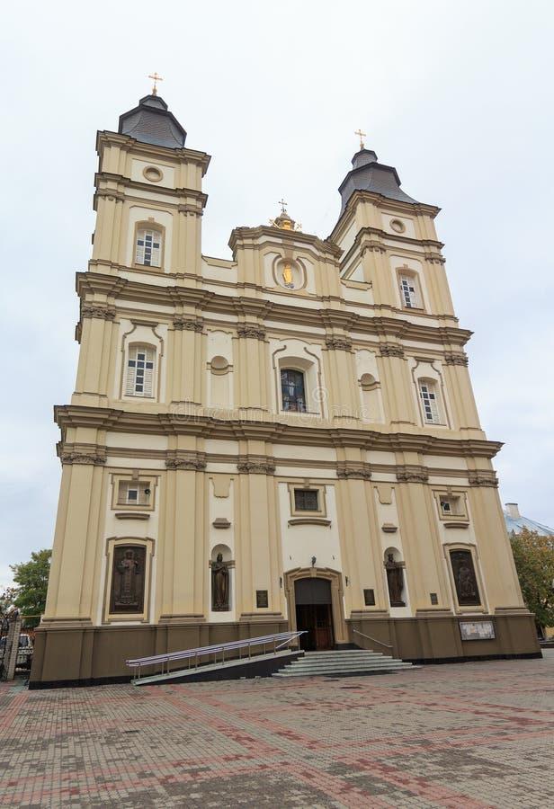 Καθεδρικός ναός ανάβασης της ελληνικός-καθολικής εκκλησίας Ivano-Frankivsk στοκ φωτογραφία με δικαίωμα ελεύθερης χρήσης