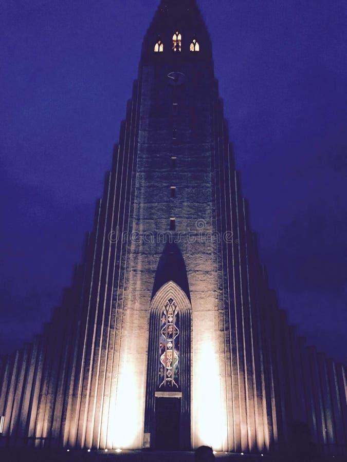 Καθεδρικός ναός ενάντια στο νυχτερινό ουρανό στοκ φωτογραφία με δικαίωμα ελεύθερης χρήσης