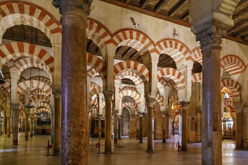 Καθεδρικός ναός μουσουλμανικών τεμενών της Κόρδοβα, Ισπανία στοκ εικόνες με δικαίωμα ελεύθερης χρήσης