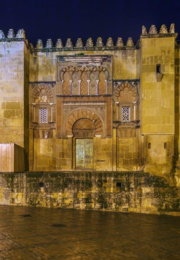 Καθεδρικός ναός μουσουλμανικών τεμενών της Κόρδοβα, Ισπανία στοκ φωτογραφία με δικαίωμα ελεύθερης χρήσης