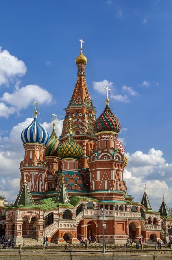 καθεδρικός ναός Μόσχα Ρωσία s Άγιος βασιλικού στοκ εικόνα με δικαίωμα ελεύθερης χρήσης