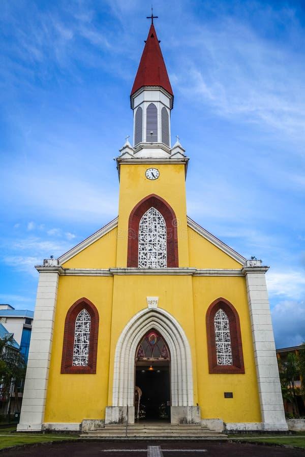 Καθεδρικός ναός πόλεων Papeete, νησί της Ταϊτή στοκ φωτογραφία με δικαίωμα ελεύθερης χρήσης