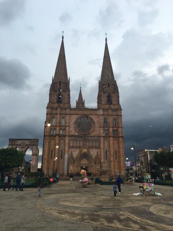 Καθεδρικός ναός σε Arandas, Jalisco, Μεξικό στοκ εικόνα με δικαίωμα ελεύθερης χρήσης