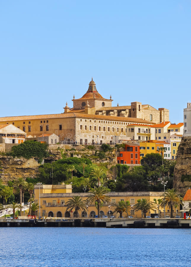 Καθεδρικός ναός σε Mahon σε Minorca στοκ εικόνες