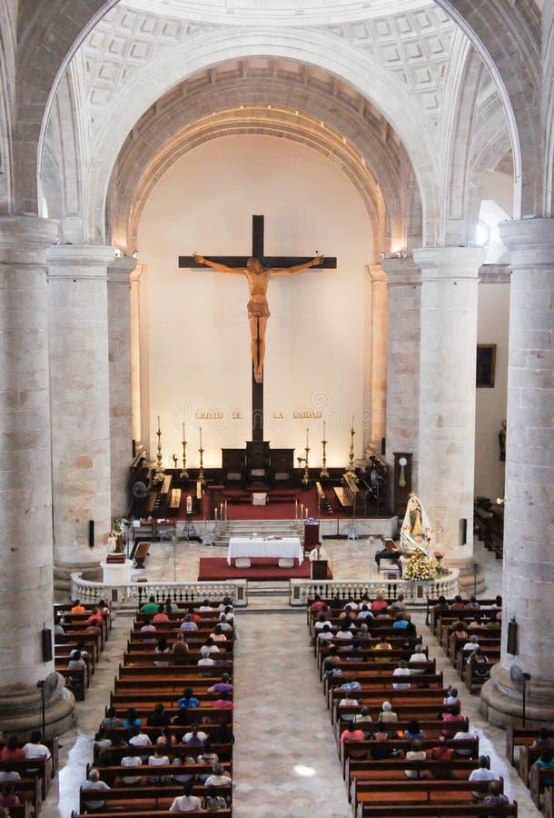 Καθεδρικός ναός στο Μέριντα, Μεξικό στοκ φωτογραφίες