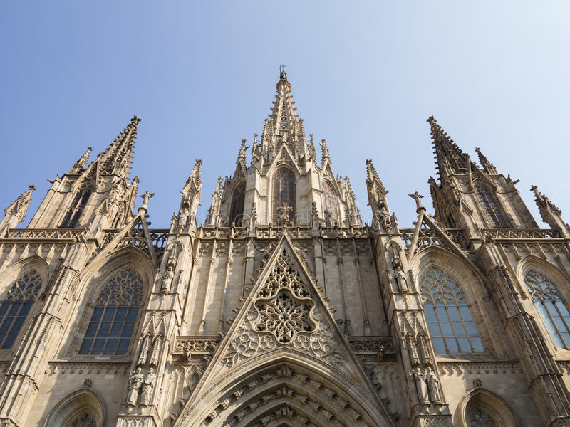 Καθεδρικός ναός της Βαρκελώνης στοκ εικόνες με δικαίωμα ελεύθερης χρήσης