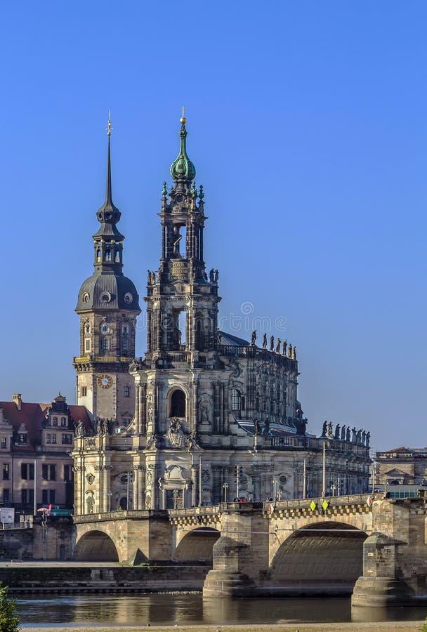 Καθεδρικός ναός της Δρέσδης, Γερμανία στοκ φωτογραφία