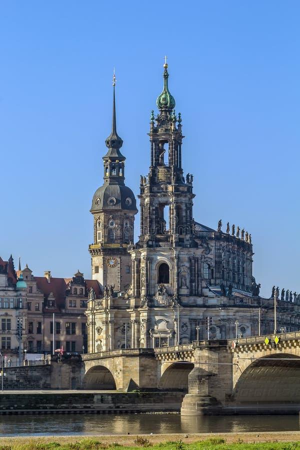 Καθεδρικός ναός της Δρέσδης, Γερμανία στοκ φωτογραφίες με δικαίωμα ελεύθερης χρήσης