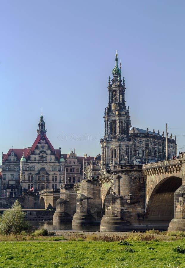 Καθεδρικός ναός της Δρέσδης, Γερμανία στοκ φωτογραφία με δικαίωμα ελεύθερης χρήσης