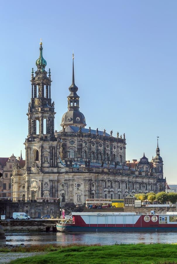 Καθεδρικός ναός της Δρέσδης, Γερμανία στοκ εικόνα