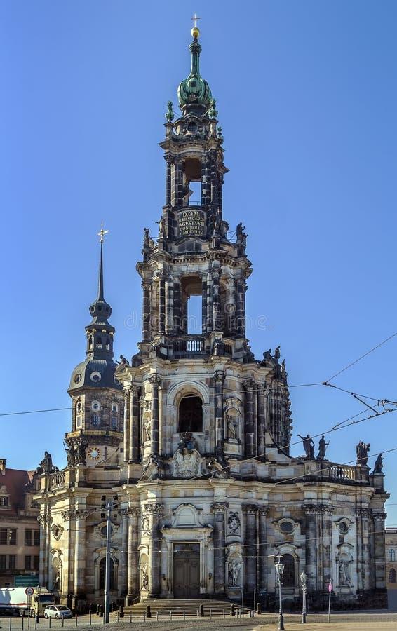 Καθεδρικός ναός της Δρέσδης, Γερμανία στοκ εικόνες με δικαίωμα ελεύθερης χρήσης