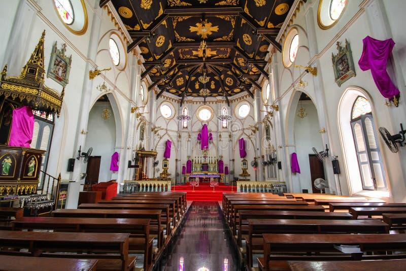 Καθεδρικός ναός της επαρχίας Samut Songkhram, Ταϊλάνδη στοκ φωτογραφία
