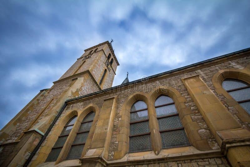 Καθεδρικός ναός της ιερής καρδιάς στο Σαράγεβο, Βοσνία-Ερζεγοβίνη Αυτή η εκκλησία είναι ένα από το κύριο ορόσημο του καθολικισμού στοκ φωτογραφίες με δικαίωμα ελεύθερης χρήσης