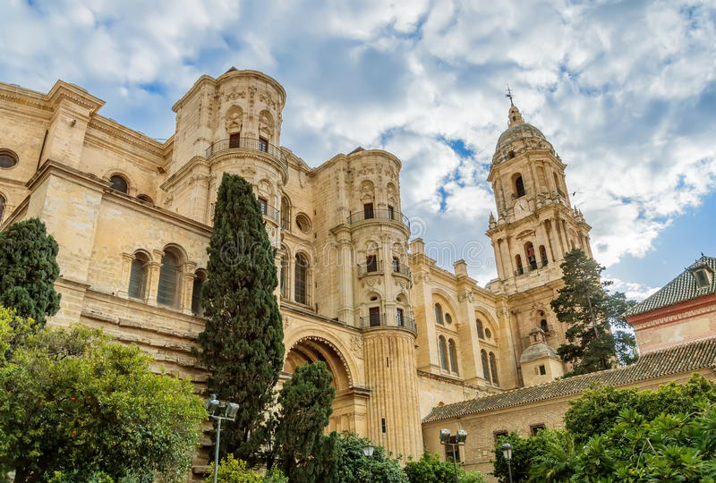 Καθεδρικός ναός της Μάλαγας στην Ανδαλουσία, Ισπανία στοκ εικόνες