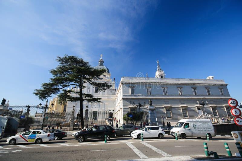 Καθεδρικός ναός της Μαδρίτης, Ισπανία στοκ φωτογραφία με δικαίωμα ελεύθερης χρήσης