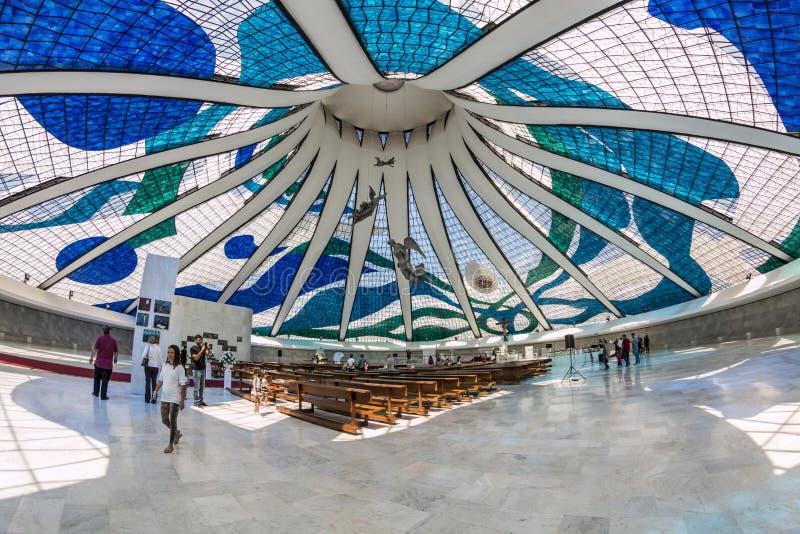 Καθεδρικός ναός της Μπραζίλια - Brasília - DF - Βραζιλία στοκ φωτογραφίες με δικαίωμα ελεύθερης χρήσης