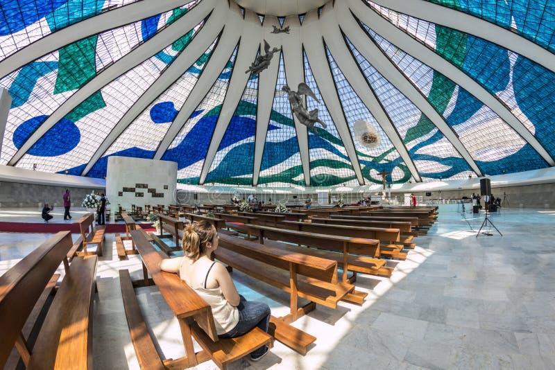 Καθεδρικός ναός της Μπραζίλια - Brasília - DF - Βραζιλία στοκ εικόνες