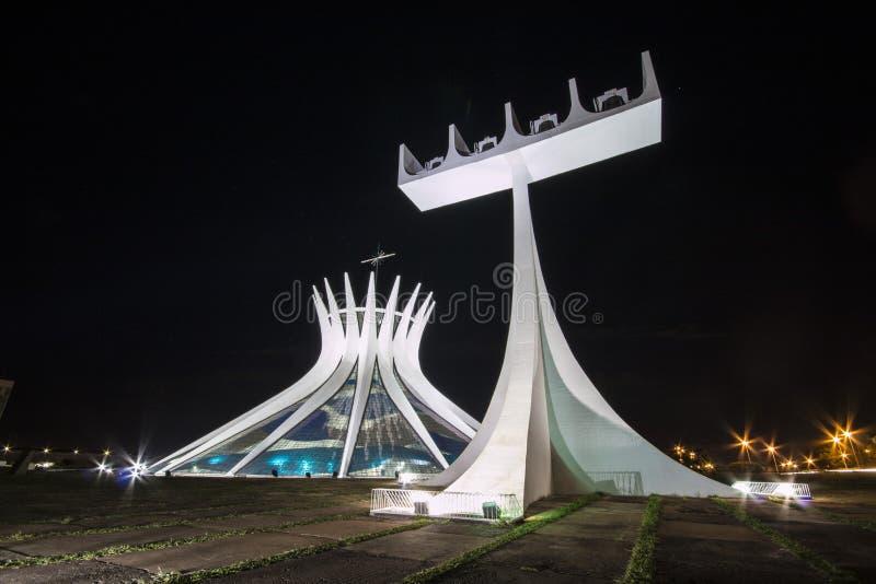 Καθεδρικός ναός της Μπραζίλια - Brasília - DF - Βραζιλία στοκ φωτογραφία με δικαίωμα ελεύθερης χρήσης