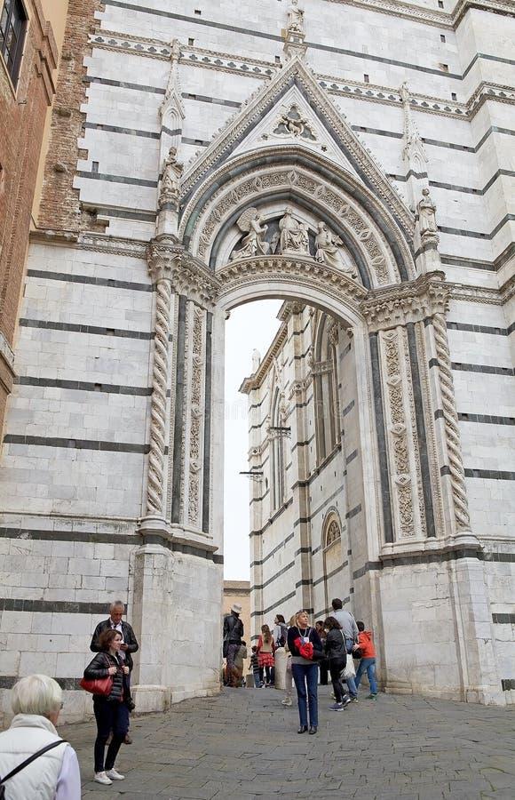 Καθεδρικός ναός της Σιένα, Σιένα, Τοσκάνη, Ιταλία στοκ φωτογραφία με δικαίωμα ελεύθερης χρήσης