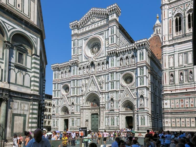 Καθεδρικός ναός της Φλωρεντίας Piazza del Duomo, Ιταλία στοκ φωτογραφία