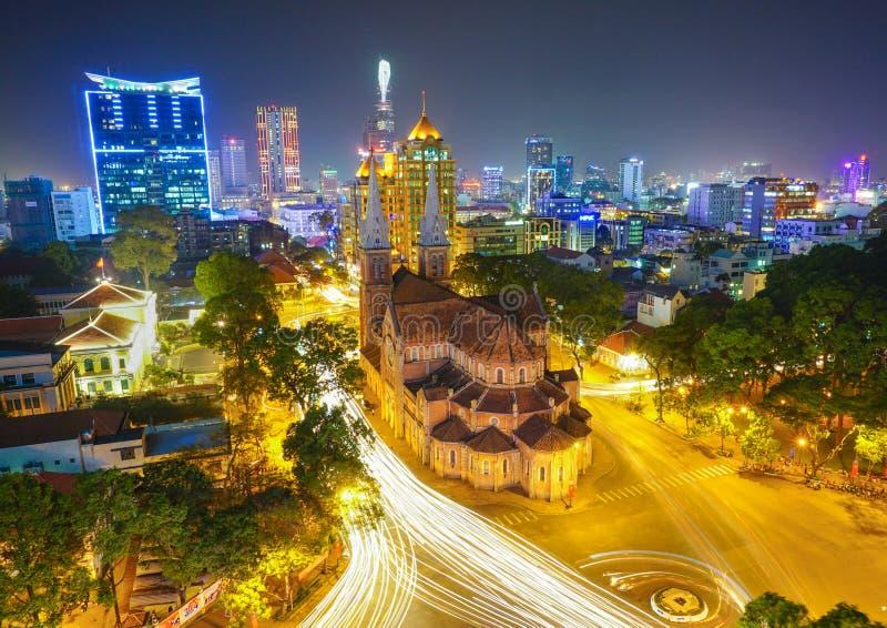 Καθεδρικός ναός της Notre Dame στη πόλη Χο Τσι Μινχ στοκ εικόνα με δικαίωμα ελεύθερης χρήσης