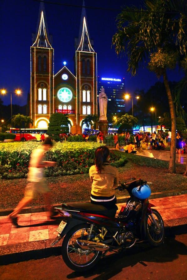 Καθεδρικός ναός της Notre Dame Chi Ho στην πόλη Βιετνάμ Mihn στοκ φωτογραφίες