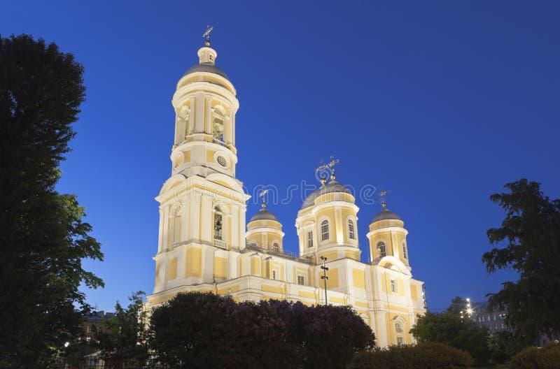 Καθεδρικός ναός του Βλαντιμίρ πριγκήπων τη νύχτα στη Αγία Πετρούπολη στοκ εικόνα με δικαίωμα ελεύθερης χρήσης