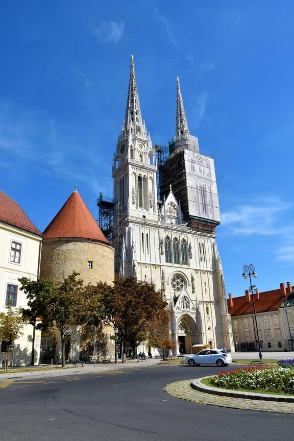 Καθεδρικός ναός του Ζάγκρεμπ στοκ φωτογραφία με δικαίωμα ελεύθερης χρήσης
