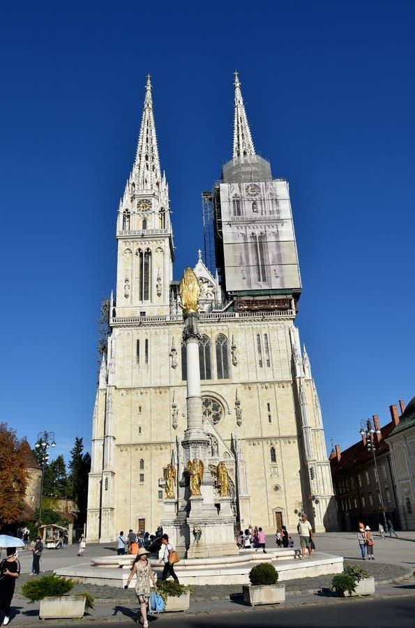 Καθεδρικός ναός του Ζάγκρεμπ στοκ εικόνες