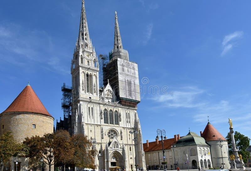 Καθεδρικός ναός του Ζάγκρεμπ στοκ εικόνα με δικαίωμα ελεύθερης χρήσης