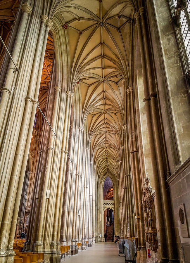 Καθεδρικός ναός του Καντέρμπουρυ, Κεντ, Ηνωμένο Βασίλειο στοκ φωτογραφία με δικαίωμα ελεύθερης χρήσης