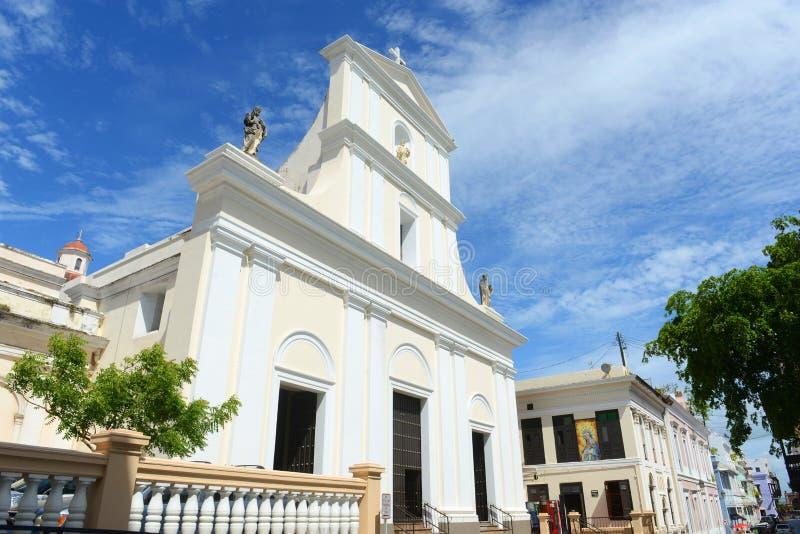 Καθεδρικός ναός του San Juan Bautista, San Juan, Πουέρτο Ρίκο στοκ φωτογραφία με δικαίωμα ελεύθερης χρήσης